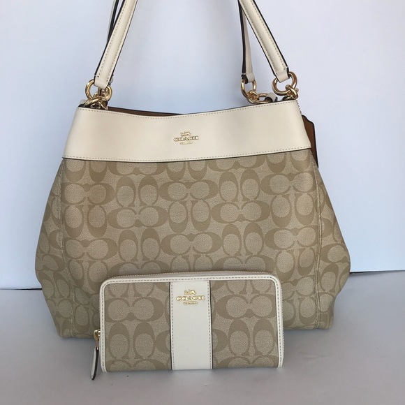 c90530077279 COACH LEXY SHOULDER BAG and wallet IN CANVAS